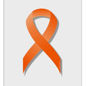 Leukemia Awareness Ribbon - Orange Aluminum Dry Erase Board