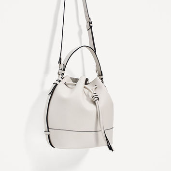 BUCKET BAG WITH KNOT CLOSURE - View all-BAGS-WOMAN | ZARA United States