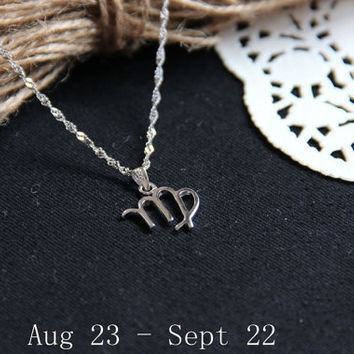 Virgo Necklace - Infinity Necklace Pendant - Pendant Necklace sterling silver - Forever Necklace Gift