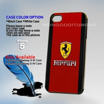 Ferrari logo, Photo Hard Plastic iPhone 5 Case Cover