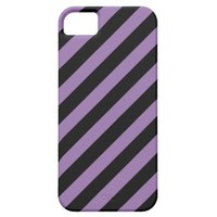 Bellflower Violet And Oblique Black Stripes iPhone 5 Cases from Zazzle.com