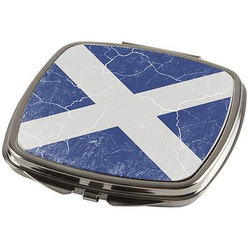 Scottish Flag Distressed Grunge Scotland Compact