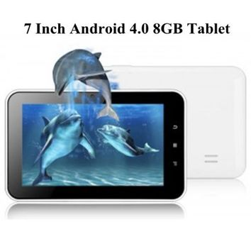 "AGPtek® 7"" Android 4.0 Touchscreen Tablet PC Black/White (1GB DDR3, 8GB NAND FLASH, HDMI 1080P 2160P, Support 3D Game & TV out) 