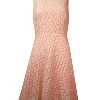 Betsey Johnson Women's Illusion V-Back Lace Dress