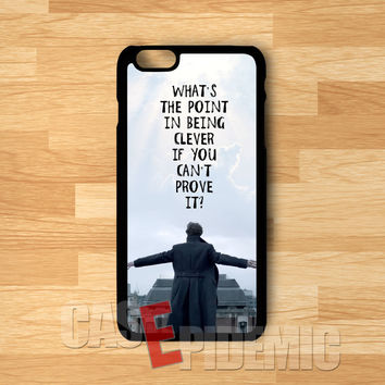 Sherlock Holmes Jump Quote -3 for iPhone 6S case, iPhone 5s case, iPhone 6 case, iPhone 4S, Samsung S6 Edge