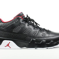 Air Jordan Men's 9 IX Retro Low Black White Gym Red