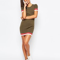 Missguided Knitted Contrast Bodycon Dress