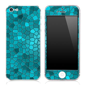 Turquoise Tiled V3 Skin for the iPhone 3gs, 4/4s or 5
