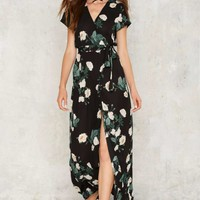 Kiss From a Rose Wrap Dress