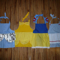 ADULT SIZED Custom Princess or Character theme dress up apron of  your CHOICE