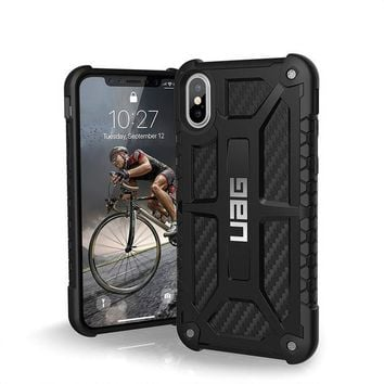 ONETOW UAG iPhone X Monarch Feather-Light Rugged [CARBON FIBER] Military Drop Tested iPhone Case