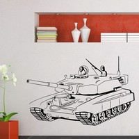 Wall Decal Vinyl Sticker Tank Weaponry Military Decor Sb444