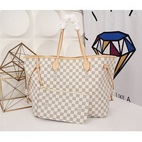LV Louis Vuitton DAMIER CANVAS LARGE NEVERFULL HANDBAG TOTE BAG