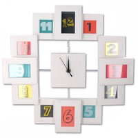 Modern Style Collage Photo Frame Wall Clock