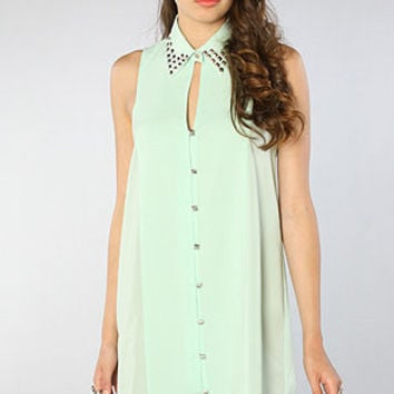 The Little Rain Dress in Aqua Sky