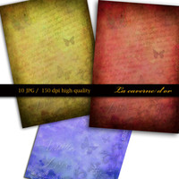 10 Romantics A4, digital printing for scrapbooking, collage, card, art paper, gift wrapping, decoration