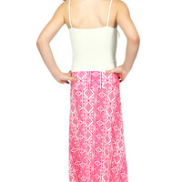 Lori & Jane Pink/White Maxi Skirt | Mod Angel