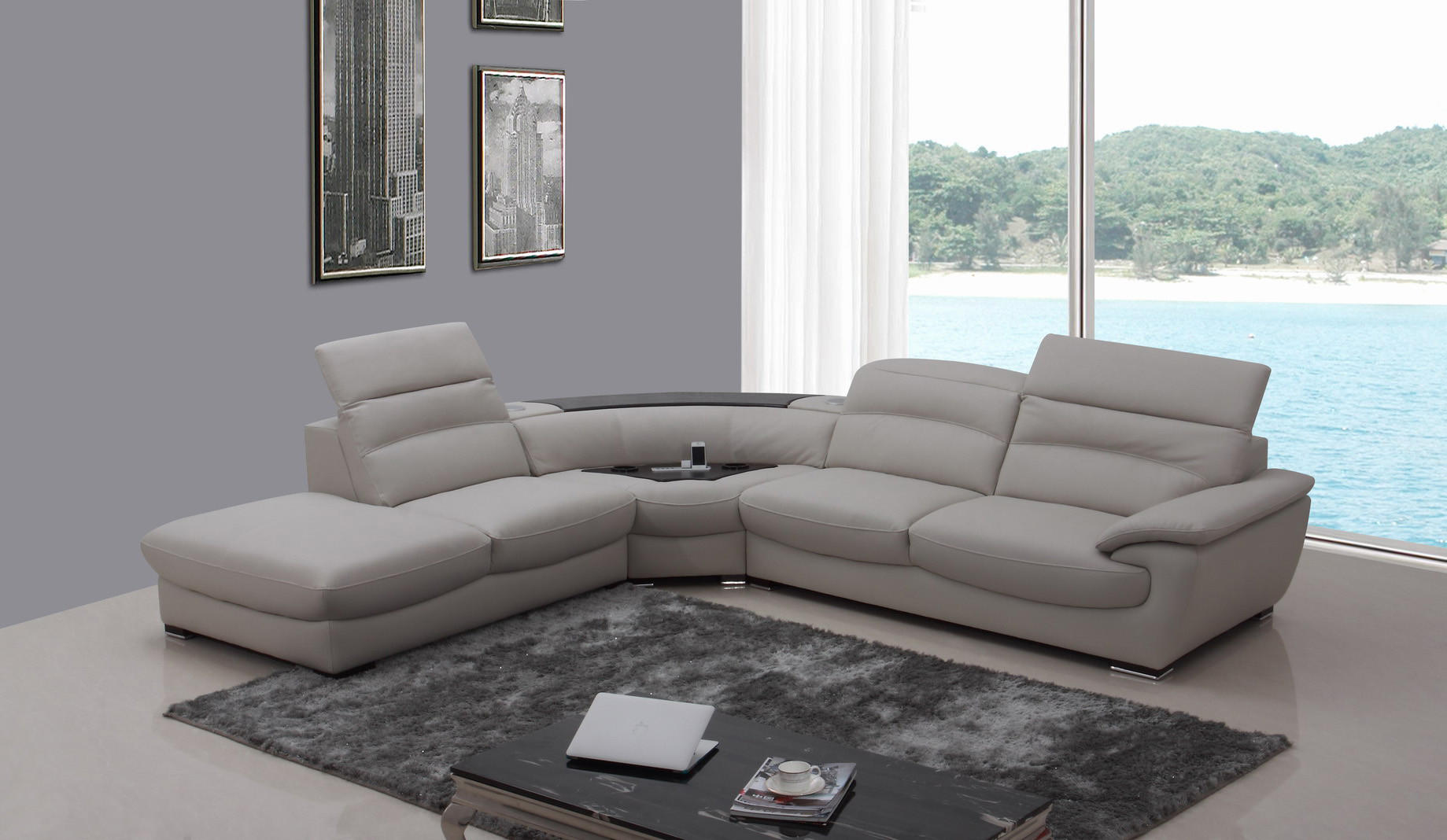 Divani Casa Miracle Modern Light Grey From Contemporary Furniture