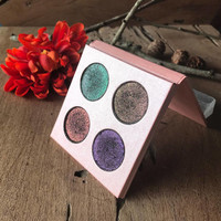 The MMO Collection Set - All 4 Colors - Eyeshadow Palette - Pressed Eyeshadows Vegan Gothic Goth Gaming