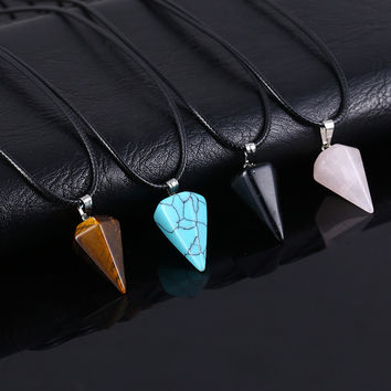 Natural Crystal Turquoise Necklace