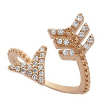 Bee Goddess Diamond Eros Arrow Midi Wrap Ring | Harrods