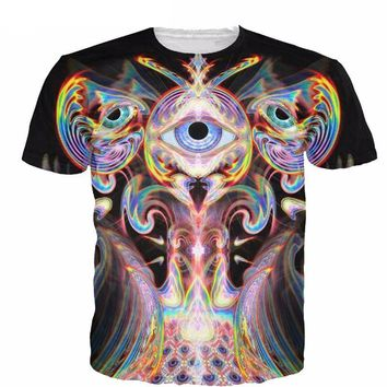 3d Colorful Third Eye Psychedelic Trippy T Shirt