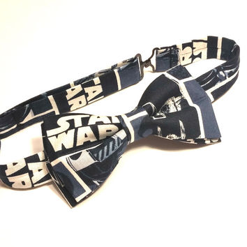 Star Wars Bow Tie • Pre-Tied Bow Tie • Navy Blue Bow Tie • Geekery Mens Fashion • Sci-Fi Film Bowtie• Star Wars Accessories • Gifts For Guys