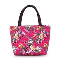8814 Flowers Canvas Lunch Bag