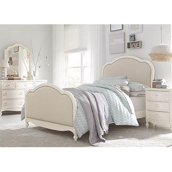 4910 Harmony - Victoria Upholstered Panel Bed With Under Bed Storage - Twin