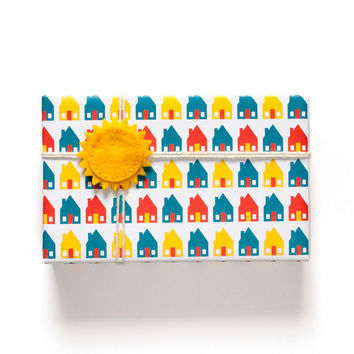 Houses Wrapping Paper