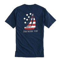 Patriotic Sail Heathered T-Shirt in Navy by Southern Tide