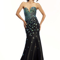 Sweetheart Beaded Top Formal Prom Dress Riva R9788
