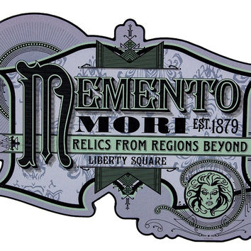 Disney Parks The Haunted Mansion Memento Mori Sign Wall New