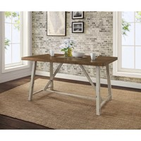 Better Homes and Gardens Collin Wood and Metal Dining Table - Walmart.com