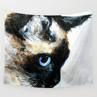 Siamese Cat Wall Tapestry by James Peart