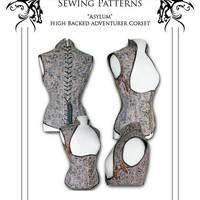 Steampunk Asylum Corset Sewing Pattern High by Harlotsandangels
