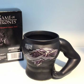 Game Of Thrones Ceramic Mug Heat-resistant Symbol Power Muscle Mug