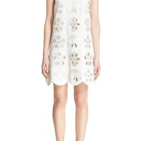 Victoria, Victoria Beckham Scallop Hem Embroidered Shift Dress | Nordstrom