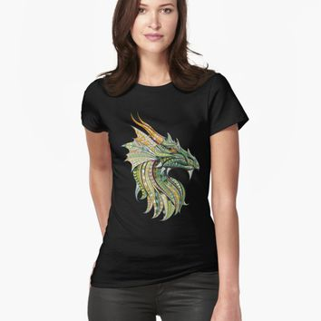 'Chinese Dragon Monster Colorful Vector' T-Shirt by Creative-World