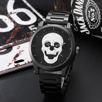 Punk 3D White Skull Men Luxury Watches Steel Stainless