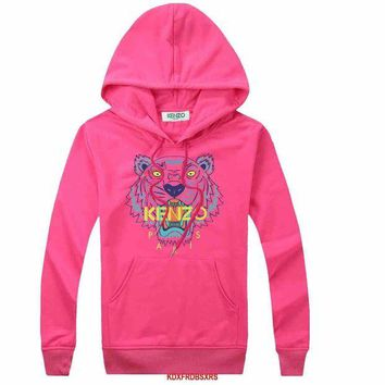 DCC3W KENZO Women Fashion Embroidery Hoodie Top Sweater Pullover