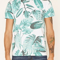 Leaf Print Cotton Tee