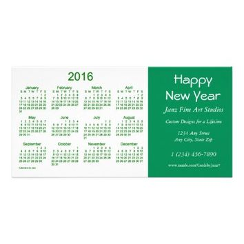 2016 Business Calendar by Janz Happy New Year Card