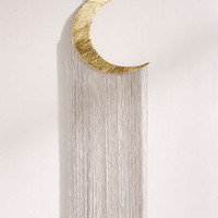Fringed Hammered Moon Decor - Urban Outfitters