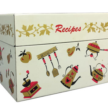 Decorative Recipe Boxes Brilliant Best Metal Recipe Box Products On Wanelo Design Inspiration