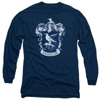 Harry Potter - Ravenclaw Crest Long Sleeve Adult 18/1 Officially Licensed Shirt