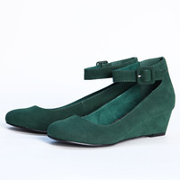 loxley mary jane wedges in forest green - $38.99 : ShopRuche.com, Vintage Inspired Clothing, Affordable Clothes, Eco friendly Fashion