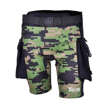 Neoprene 2.5mm Camouflage Diving Surfing Pants For Men's Swimming Trunks Quick-Dry Technical Diving Shorts YK07