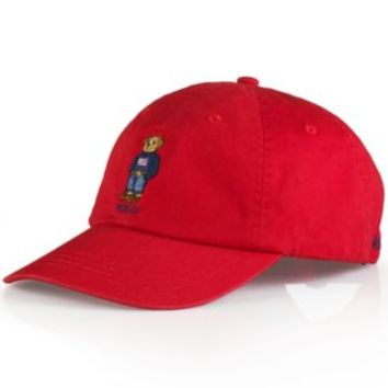 Polo Ralph Lauren Polo Bear Chino Baseball Cap - Weekend Polo Bear | macys.com