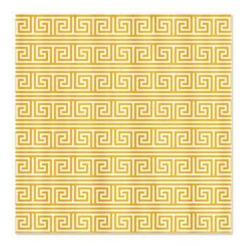 Yellow Greek Key Print Pattern Shower Curtain> Yellow Greek Key Print Pattern> Cierra's Pattern Decor and Gifts